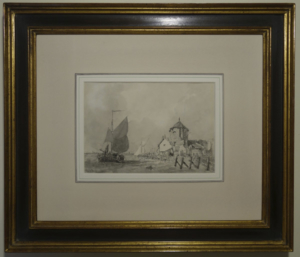 Set of 3 Sketches of Boats at the Quayside